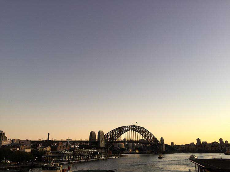 Evening Scene at Circular Quay Train Station - NepaliPage
